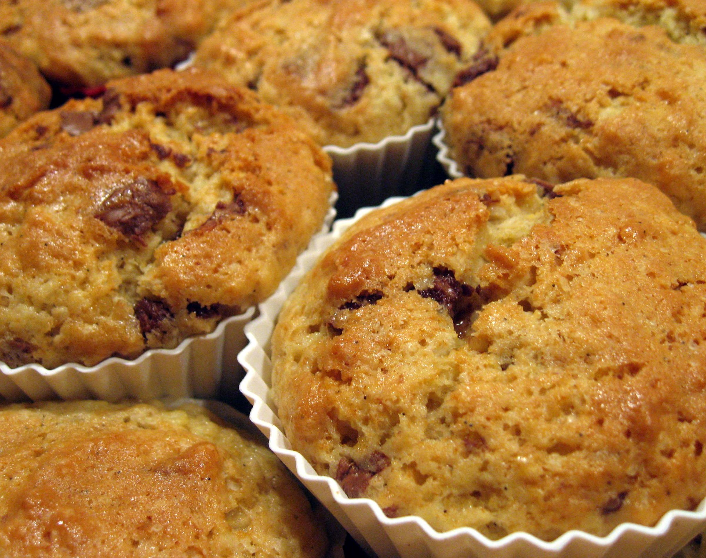 chokolade kokos muffins