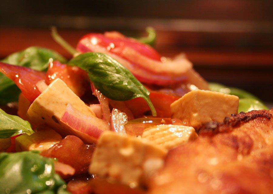 Tomatsalat med hjemmelavet feta
