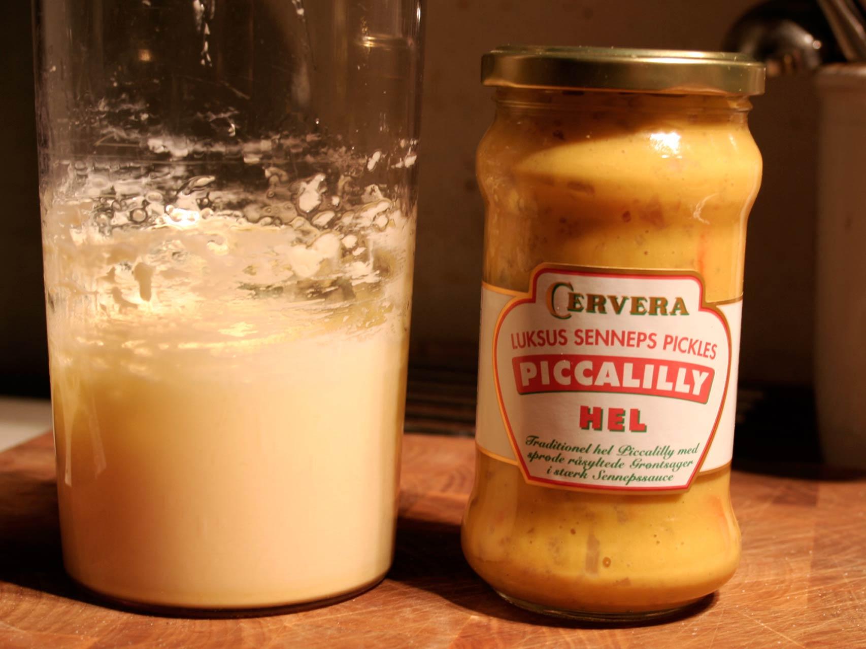 Pickles og hjemmelavet mayonaise