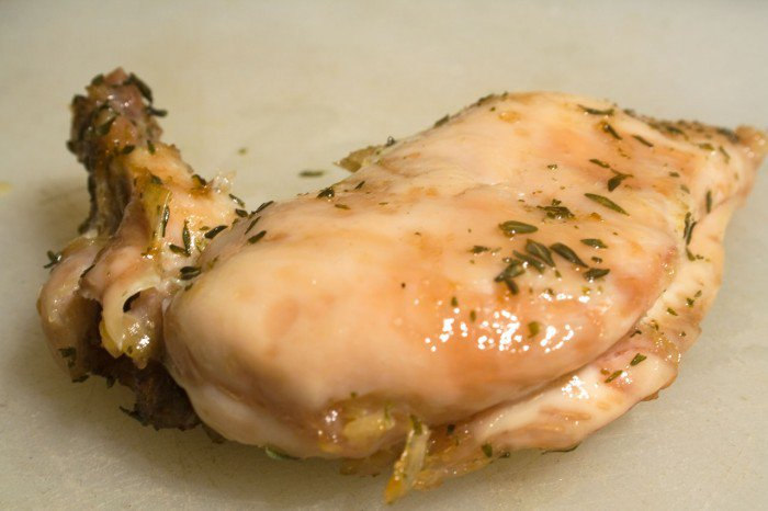 Confitteret kyllingebryst