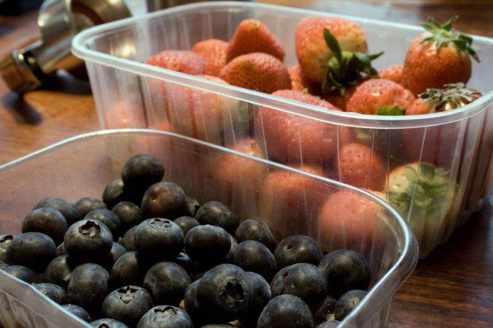 Blåbær og jordbær