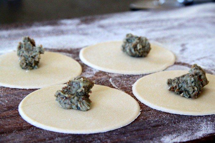 Tortellinins med ingefær og stilton