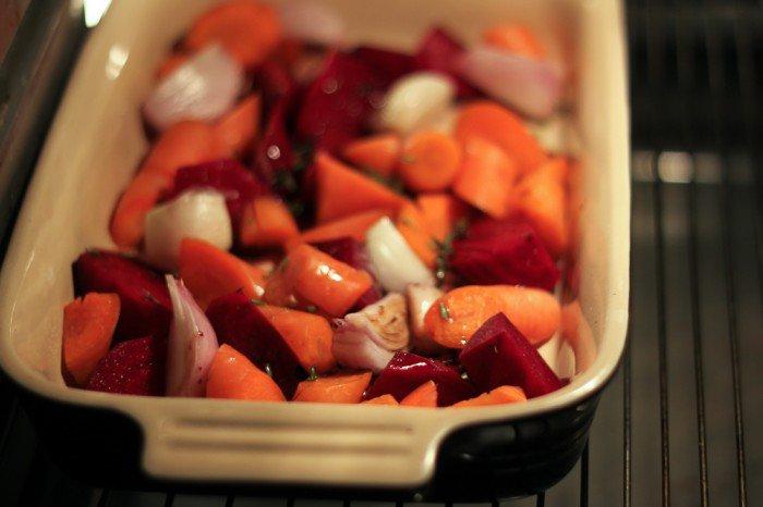 Rodfrugter i ovnen