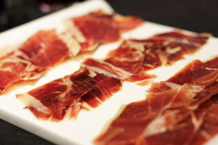 Reserva Ibérica - Barcelona. Tre forskellige slags lufttørret skinke.