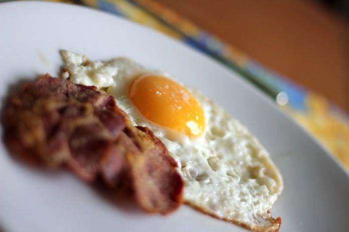 Bacon fra slagter Munch i Skagen til et spejlæg