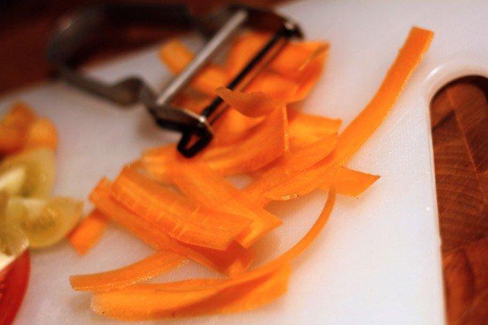 Strimlet gulerod