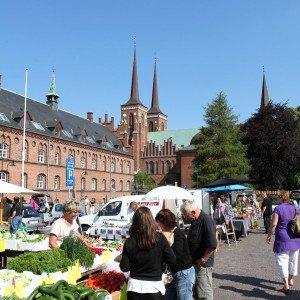 <b>Roskilde marked på stændertorvet</b>