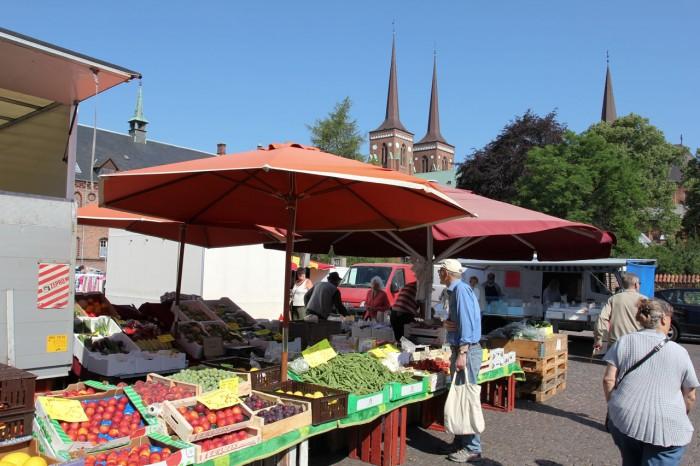 Roskilde marked på stændertorvet
