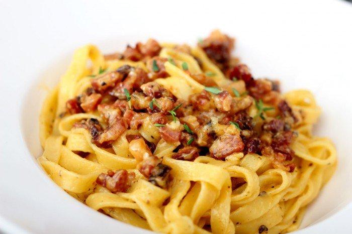 Spaghetti carbonara med et twist