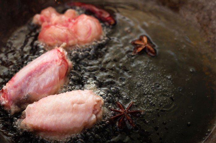 Kyllingevingerne steges
