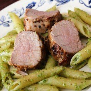 <b>Pesto, pasta og svinemørbrad</b>
