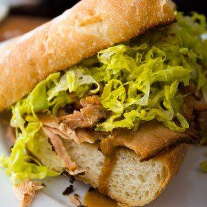 <b>Sandwich på confiteret grissebasse</b>