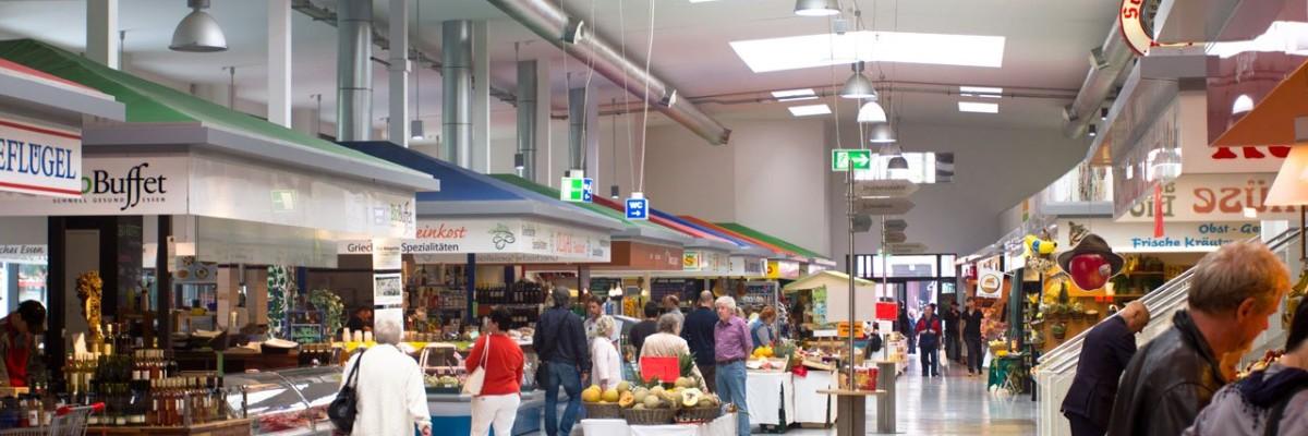 Indvendigt hos marheineke markthalle i Berlin