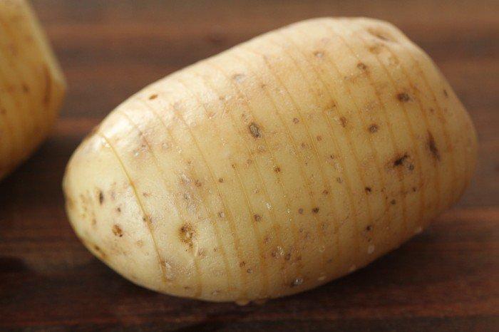 Skåret kartoffel