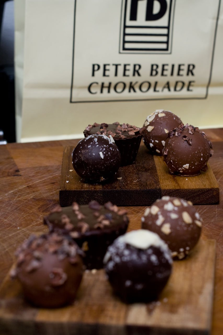 Fire chokolade trøfler